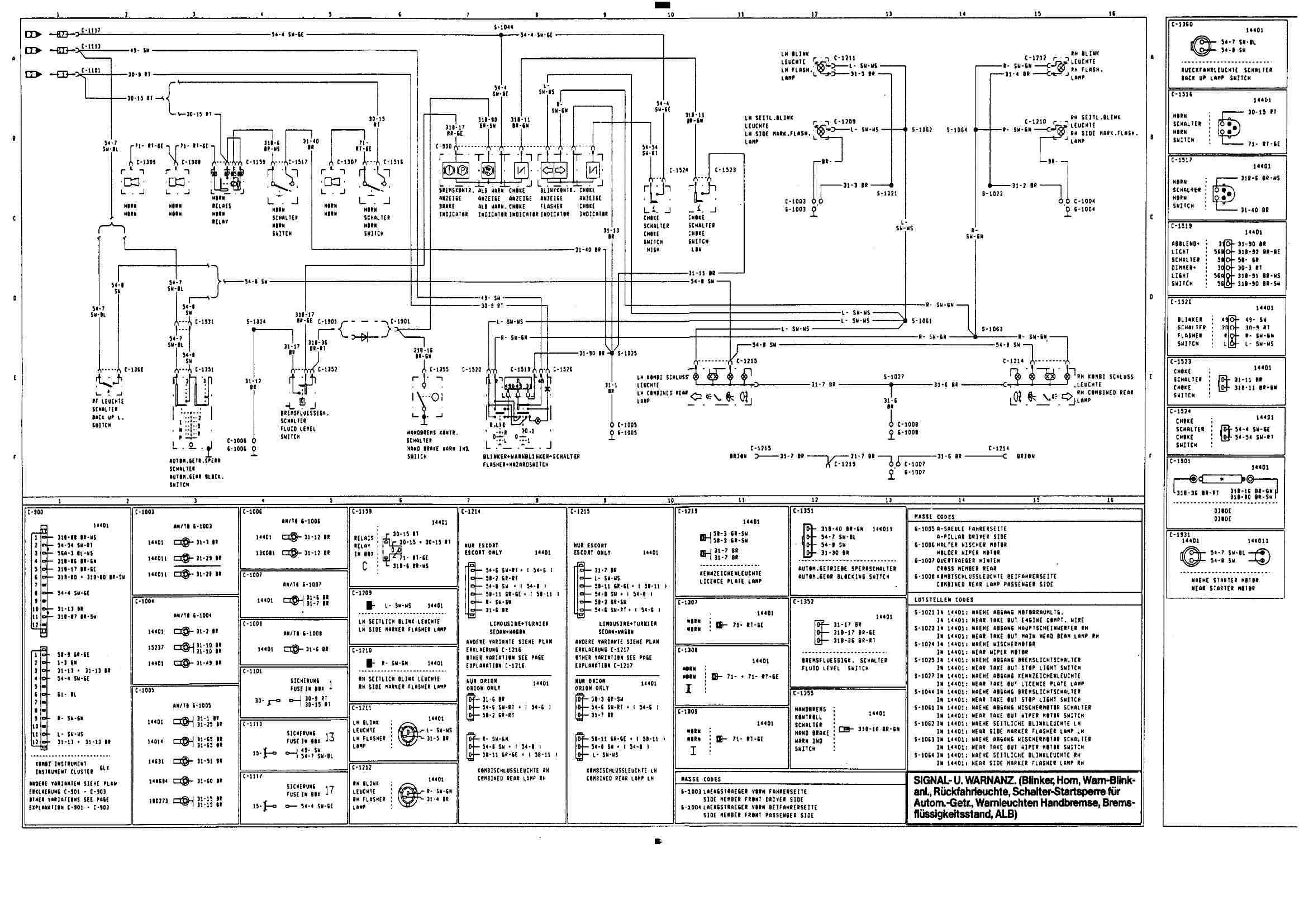 Beste Ford Blinker Schaltplan Zeitgenössisch - Elektrische ...